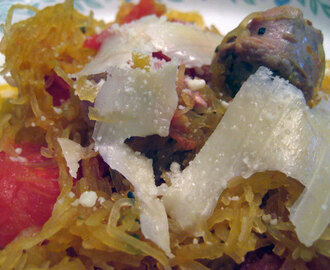 Sausage, Spaghetti Squash and Tomatoes