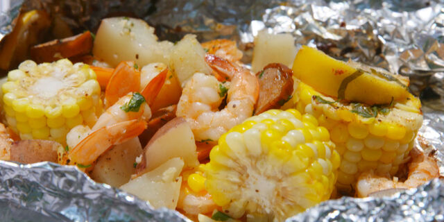 Grilled Shrimp Foil Packets