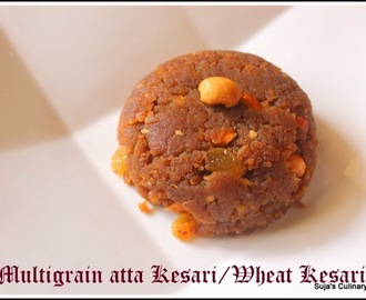 Multigrain Atta Kesari/Whole Wheat Flour Kesari/Easy Wheat Halwa