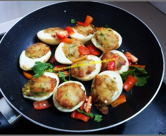 STUFFED EGGS SHALLOW FRIED