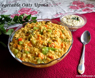 Vegetable Masala Oats Upma