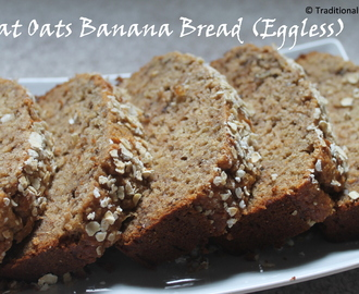 Wheat Oats Banana Bread (Eggless)