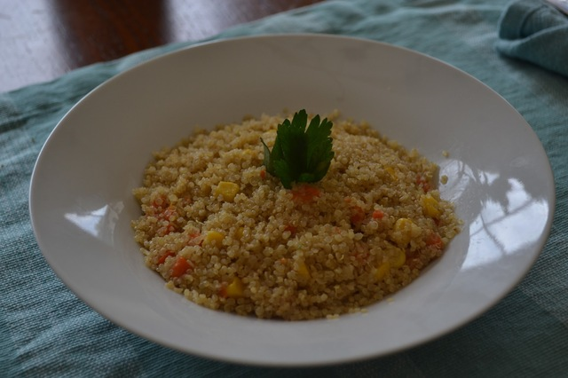 Quinoa with vegetables / Quinoa con vegetales
