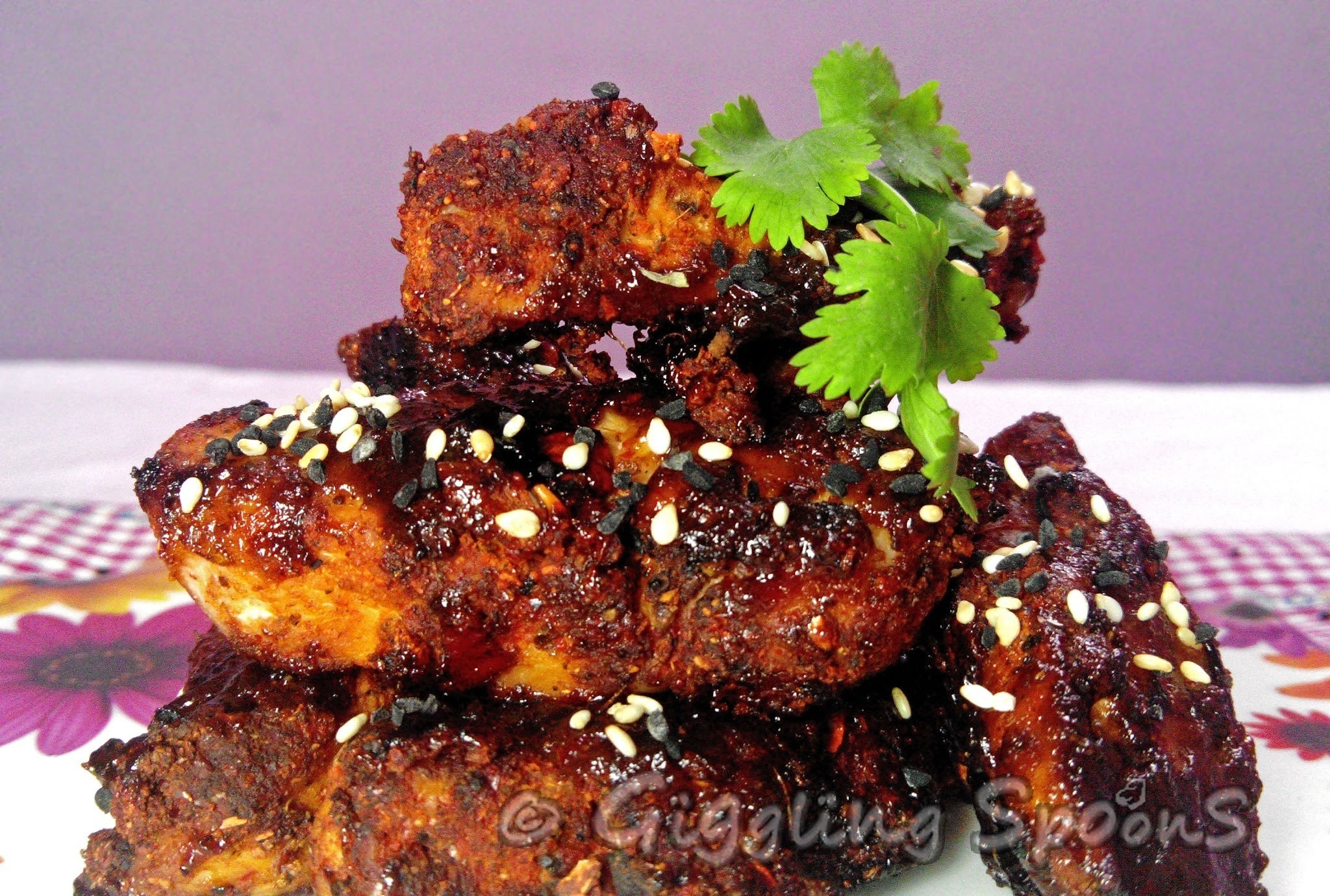 Grilled Chicken in Barbeque Sauce