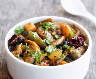 Stir fried eggplant and potatoes