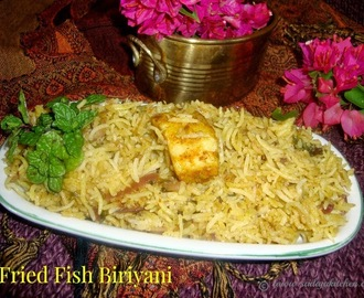 Fried Fish Biriyani Recipe / Fish Biriyani Recipe  / Fish Biryani Recipe / Fish Dum Biryani Recipe /  Rice Cooked With Spices And Fish