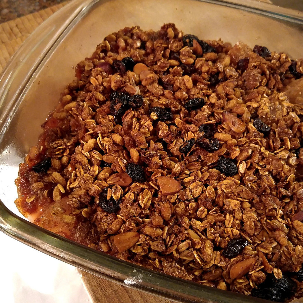 Asian Pear and Cranberry Crisp