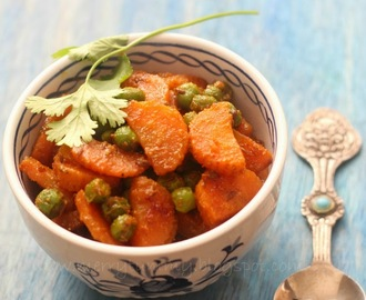 Gajar Mutter, Carrot Peas Stiry fry: Indian Side Dish