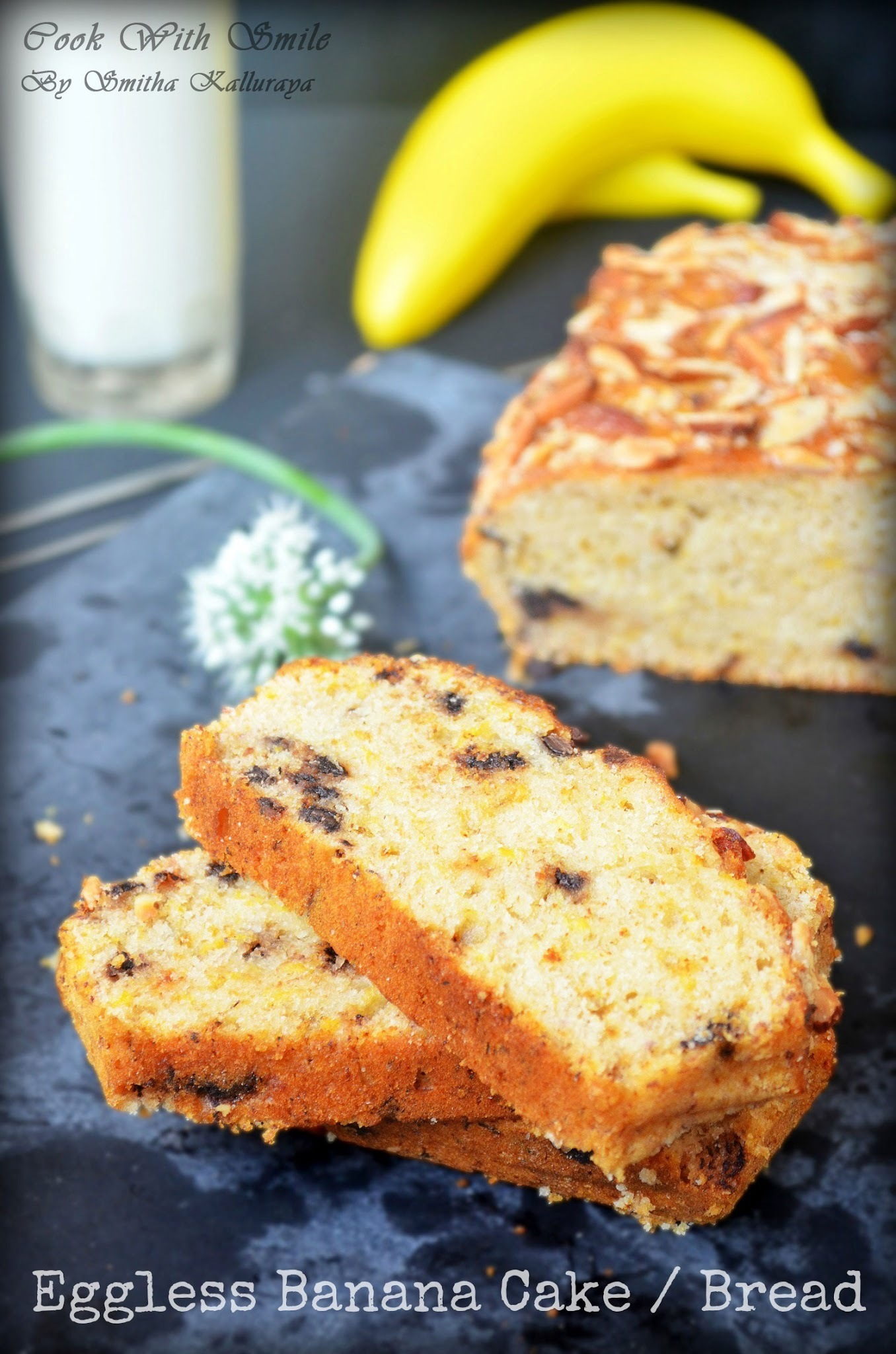 EGGLESS BANANA CAKE / EGGLESS BUTTERLESS BANANA BREAD