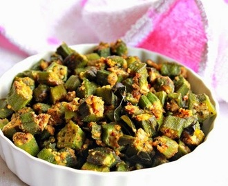 Vendakkai Podi Curry, Bhindi, Okra Curry