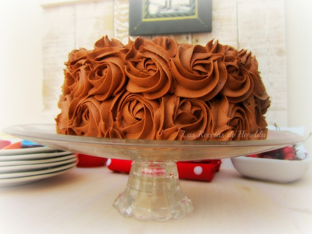 Tarta de Chocolate y Mascarpone con Buttercream.