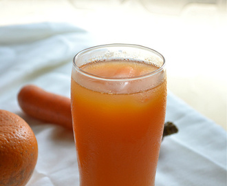 carrot orange juice recipe - summer drinks