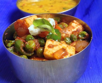 Paneer Jalfrezi | Paneer Recipes | North Indian Recipes | Step by Step Pictures