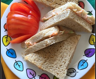 Hung Curd Carrot Sandwich | Tea time snacks