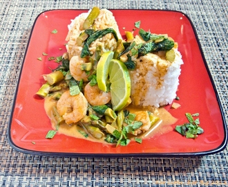 Recipe for Thai Shrimp and Veggie Curry