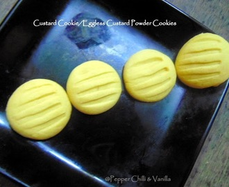 Custard Cookies/Eggless Custard Powder Cookies