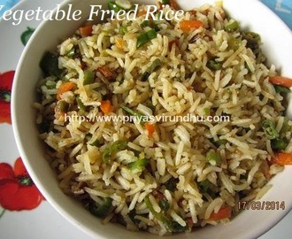 Vegetable Fried Rice/Fried Rice [Indo –Chinese Fried Rice]