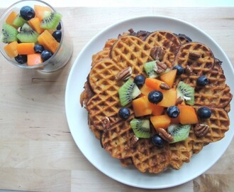 SWEETPOTATO WAFFLES!