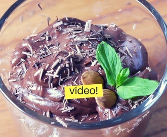 Mousse de chocolate fácil con 2 ingredientes
