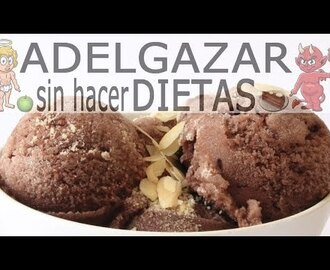 Helado de chocolate saludable