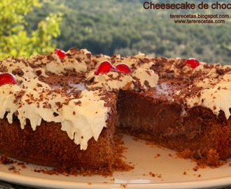 Cheesecake de chocolate.