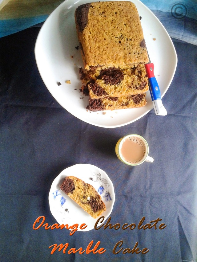 EGGLESS BUTTERLESS ORANGE CHOCOLATE MARBLE CAKE I VEGAN ORANGE CHOCOLATE CAKE I EGGLESS CAKE RECIPES