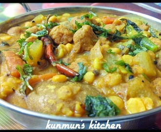 Lau Soya chunks Dalma (Bottle gourd n Soya nuggets With Lentil)