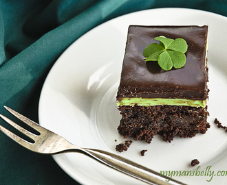 St. Patricks Day Recipes: Mint Chocolate Brownies
