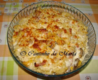 Massa Gratinada com Bacon