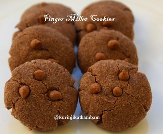 Finger Millet / Ragi Choco Chip Cookies | Millet Recipes