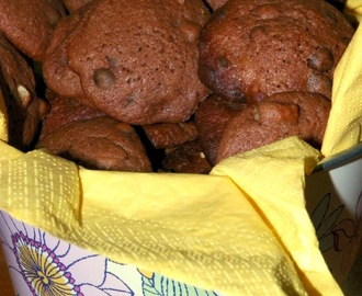 Galletas de chocolate y nueces.