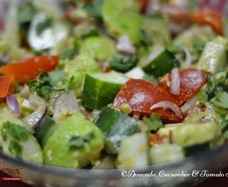 Avocado, Cucumber & Tomato Salad