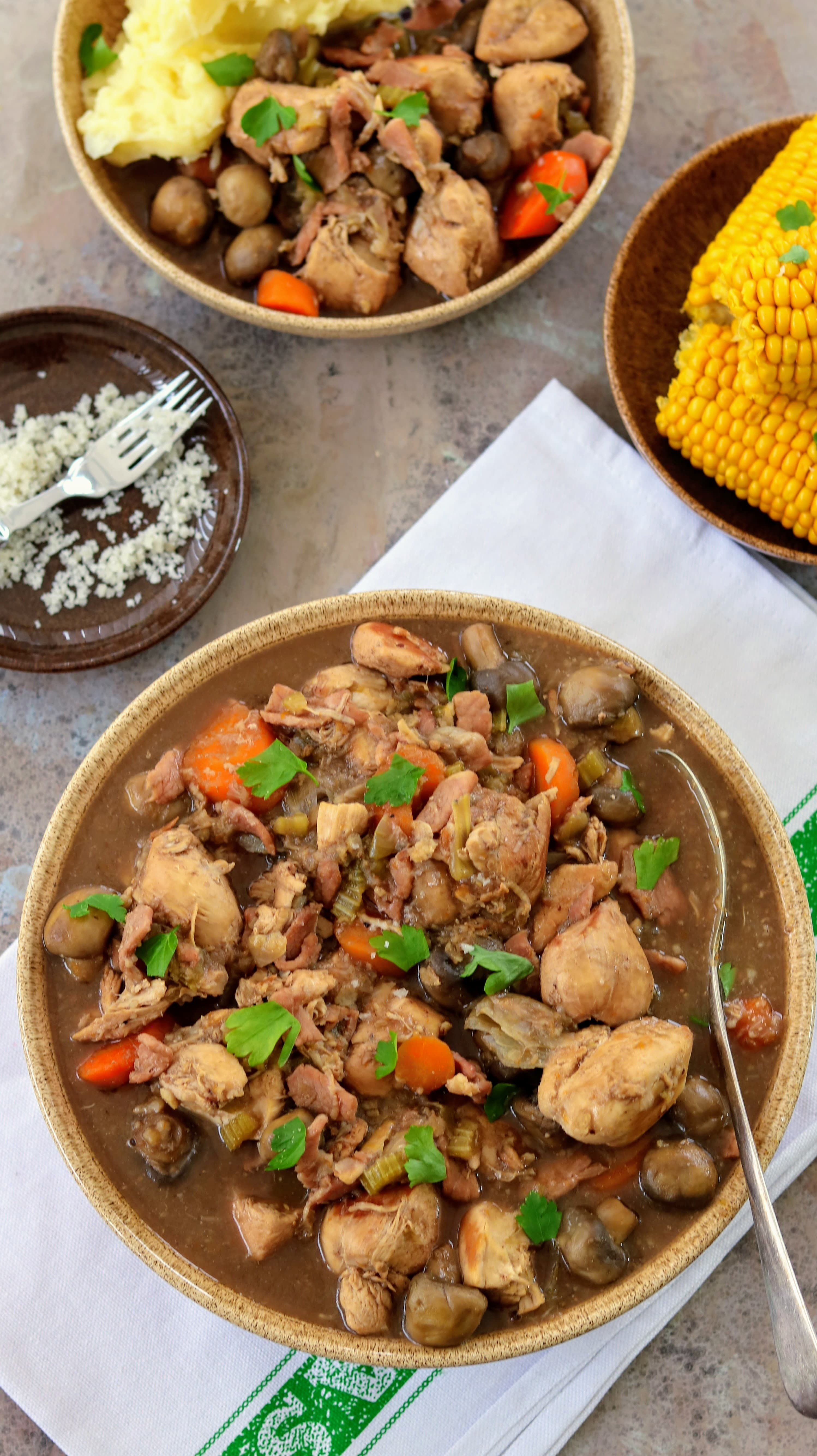 Slimming World Syn Free Coq Au Vin (Chicken in Red Wine)