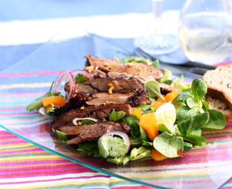 Mesquite and Tea Smoked Duck Salad