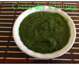 Green Coriander Chutney Recipe