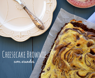 Cheesecake Brownie com Arandos