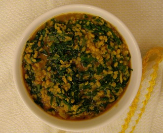 Palak  Dal Bhaji  / Spinach and mung beans curry