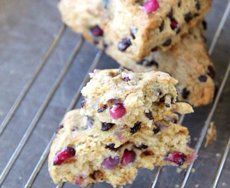 Pomegranate and Chocolate Chunk Scones