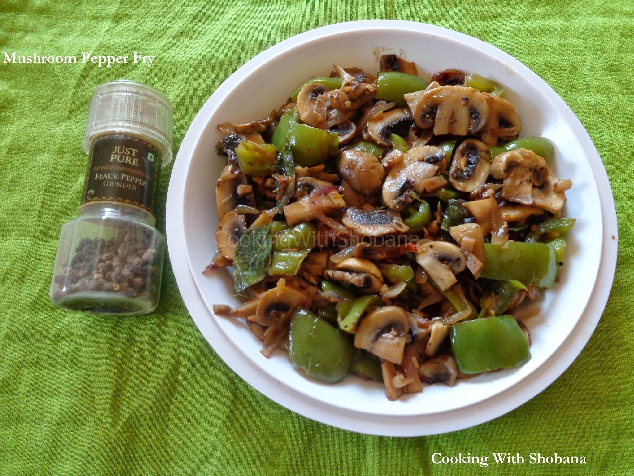 how to prepare mushroom pepper dry