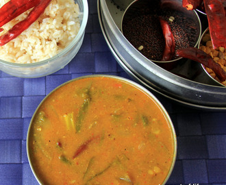 Udipi Sambar - Udupi sambar - Side dish for Idli / dosa or rice - Sambar with freshly masala