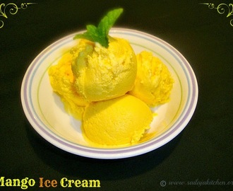 Mango Ice Cream Recipe / Eggless Mango Ice Cream Recipe / Easy Mango Ice Cream Recipe / Homemade Mango Ice Cream Recipe
