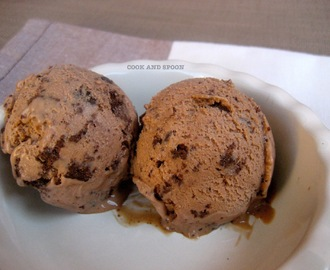 HELADO DE CHOCOLATE CON LECHE Y BROWNIE