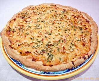 Recipe for Onion and Toasted Pine Nut Olive Oil Tart
