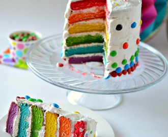 6 Layer Rainbow Cake | Rainbow Cake | Eggless Rainbow Cake