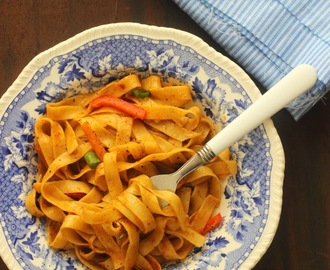 Tagliatelle Pasta With Basic Spices: Simplest Italian Pasta Recipe: No Sauce Needed