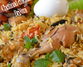 Chettinad Chicken Biryani Recipe