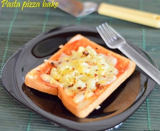 Pasta pizza bake - easy kids snack recipes