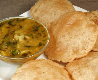 Manjula's Kitchen Aloo Puri (Potatoes with Fried Puffed Bread) Post navigation