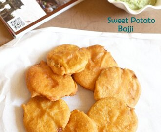 Sweet Potato Bajji | Sweet Potato Fritters Recipe