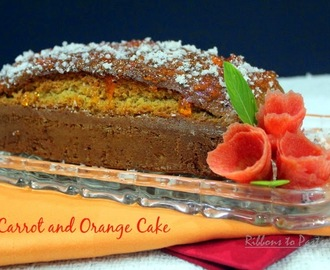 Eggless Carrot and Orange Cake